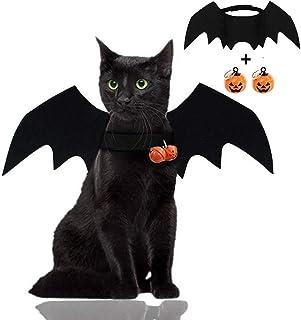 Sponsored Ad - Malier Halloween Cat Costume for Cats Dogs Pet Bat Wings Cat Dog Bat Costume Wings (Bat Wings with Pumpkin ...