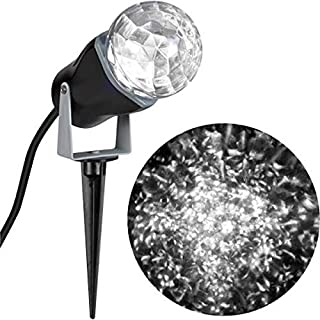 Gemmy Light Show White Kaleidoscope Projection Light Outdoor Ultra Bright Christmas Projector