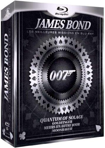 Coffret best of bond : quantum of solace ; goldfinger ; meurs un autre jour ; moonraker [Blu-ray] [FR Import]