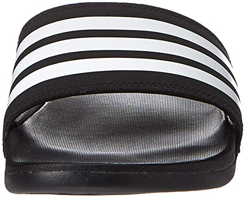 Adidas Adilette Comfort, Zapatos de Playa y Piscina Hombre, Negro (Core Black/Footwear White/Core Black 0), 43 EU