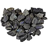 mookaitedecor 1 lb Bulk Natural Labradorite Raw Crystals Rough Stones for Tumbling,Cabbing,Polishing,Wire Wrapping,Wicca & Reiki Crystal Healing