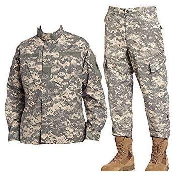 廉価品 アジアサイズ 迷彩服 上下セット BDU 戦闘服 ジャケット&パンツ ACU (XXS)