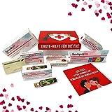 Hochzeitsgeschenk | Erste Hilfe Set für die Ehe, witziger Sanikasten | 9-teilig | Geschenk-Box zur...
