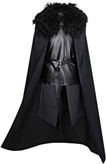 Game of Thrones Jon Snow Cosplay Mens Knights Watch Costume Outfit Suit