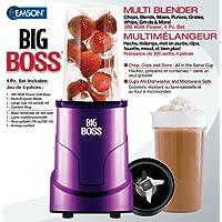 Big Boss 8867 4-Piece 300-watt Personal Countertop Blender Mixing System (Purple)