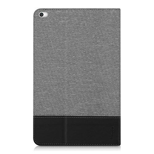 kwmobile Huawei MediaPad T1 10 Hülle - Tablet Cover Case Schutzhülle für Huawei MediaPad T1 10 - Grau Schwarz mit Ständer - 3