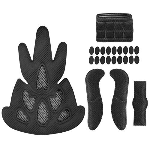 BESPORTBLE 23 Stück Schwarze Helmpolsterung Fahrradhelm Ersatzpolster Universalpolster für Mountainbike Motorrad Motorradhelm