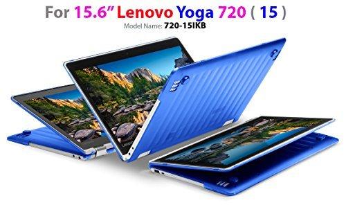 mCover Ligero Funda Dura para Lenovo Yoga 720-15IKB - Portátil Convertible de 15,6' Full HD - Azul (Modelo: 15' Yoga 720)