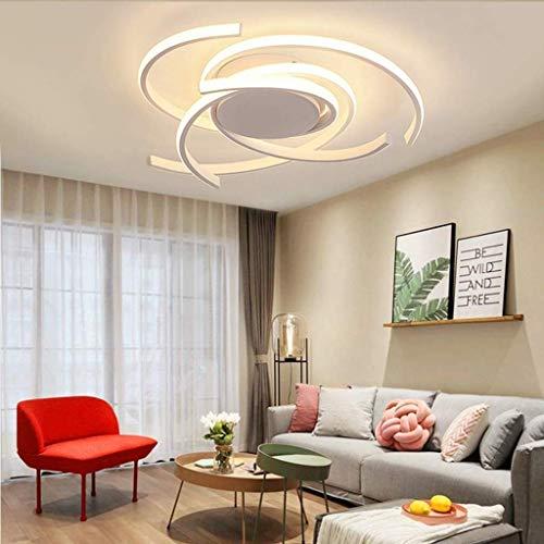 Hauptbeleuchtung Deckenleuchte, Led-Licht Weiß Dimmbar Warmes Licht Wohnzimmerlampe 72W Modern Mit Fernbedienung Schicke Deckenleuchte Aus Acrylmetall Schlafzimmer Restaurant Esslampe & Oslash; 56 Cm