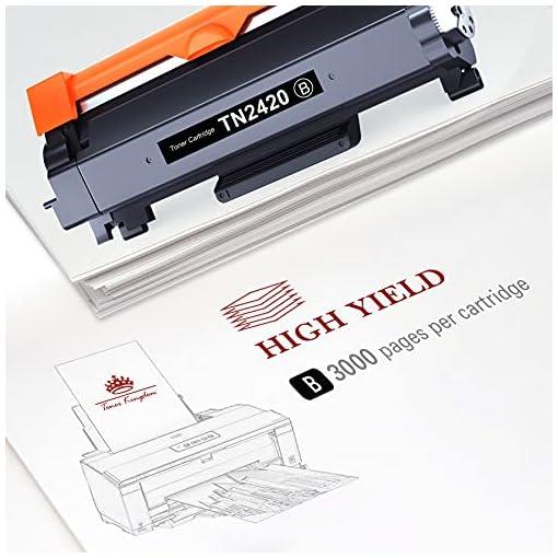 Toner Kingdom TN2420 Cartucho Toner Compatible para Brother TN2420 TN2410 para Brother MFC-L2710DW HL-L2350DW DCP… 3