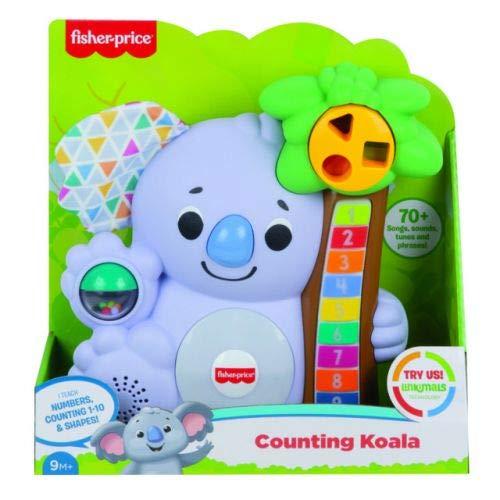 Fisher-Price- Parlamici Baby Koala 123, Gioco Educativo con Luci e Suoni Juguete para niños de 9 + Meses. (Mattel GVN29)