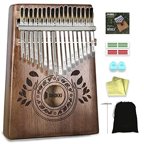 UNOKKI Kalimba Thumb Piano - Kalimba 17 Key Musical Instruments with Kalimba Song Book Instructions, Tuning Hammer & More! Thumb Piano for Kids &...
