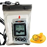 LUCKY Wireless Portable Depth Sounder Finder Sonar Sensor 45M Multilanguages Choose Fish Finder Fish Lure Echo LCD
