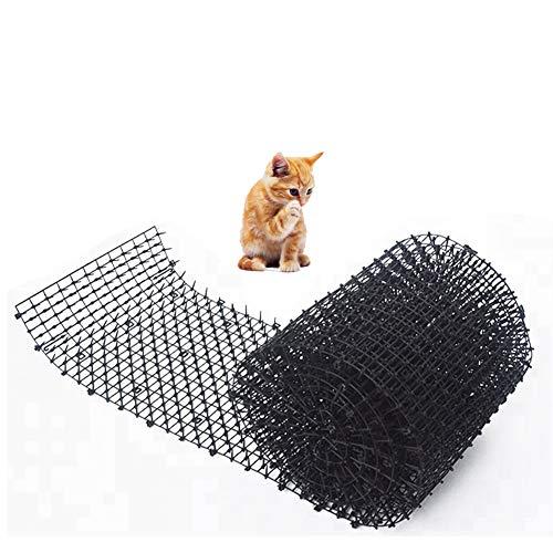 ROKFSCL katzenspikes katzenabwehr, Tiervertreiber Katzenabwehr,Katzen Marder Hunde Tierschreck Spikes funktioniert super in Gärten, Höfe, und Pflanzer(0.7x11.8x78.7inch,1 pc)