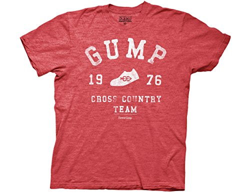 Ripple Junction Forrest Gump Cross Country Adult T-Shirt Large Red Heather