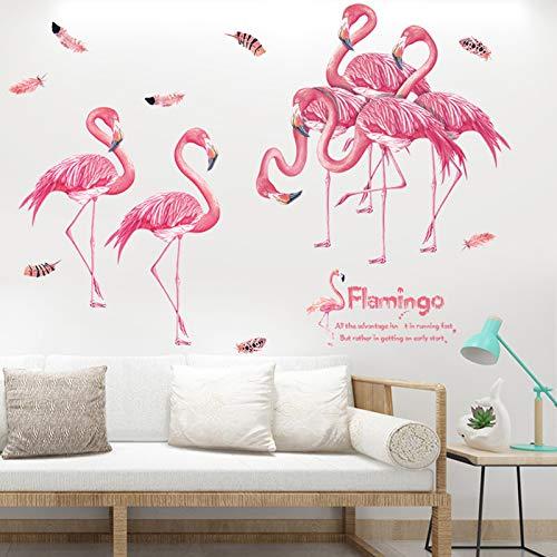 Wandtattoo 3D,Flamingo Wandaufkleber,Flamingo Wandtattoo,Flamingo Wanddeko,Flamingo Wandsticker,Aufkleber Flamingos Wandaufkleber Babyzimmer,Wandsticker Kinder,Flamingo als Wanddekoration