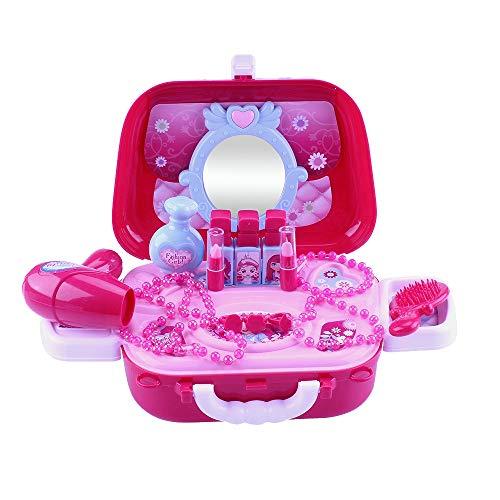 Liseng Juego de juguetes de maquillaje con bolsa de hombro cruzada, juguetes para nios de 3, 4, 5 aos de edad, para regalo de cumpleaos de nia