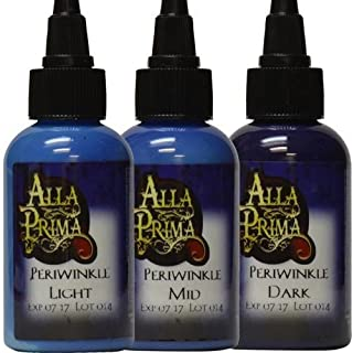 Tattoo Ink by Alla Prima - Periwinkle Color - 4 oz Bottles Set of 3