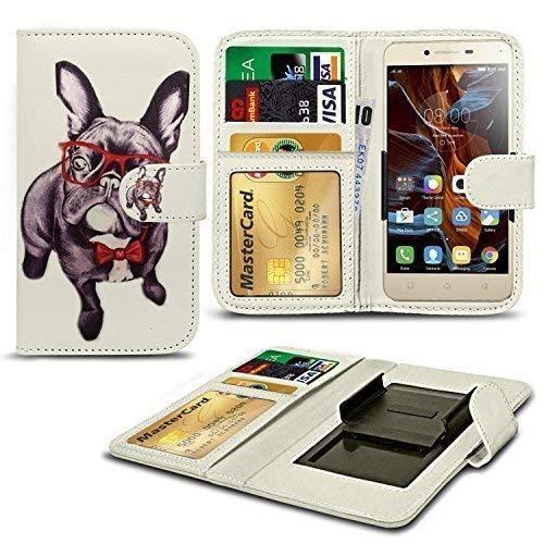 N4U Online® Verschiedene Muster Clip Serie Kunstleder Brieftasche Hülle für Acer Liquid Z320 - H&