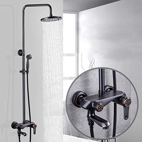 Fantastic Deal! RuiXia Light Luxury Copper Plated Metal Shower Head Home Four-Speed Shower Set Bathr...