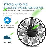 ポータブルネックファン-スポーツオフィストラベル360°充電式ハンズフリーミニUSBパーソナルファンバッテリーは、屋内屋外運動用に3レベルの気流で動作します