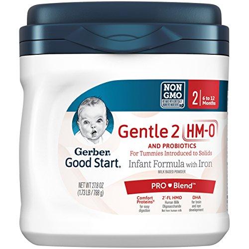 Gerber Good Start Gentle (HMO) Non-GMO Powder Infant Formula Stage 2, 27.8 oz (Pack of 4)