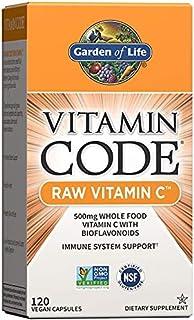 Garden of Life Vitamin Code Raw Vitamin C, 500mg Whole Food Vitamin C with Bioflavonoids, Fruits...