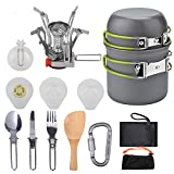Pentole da Campeggio Kit da Pasticcio Escursionismo Zaino in Spalla Picnic Ciotola da Cucina Set di Cucchiai di Coltelli Antiaderenti,B