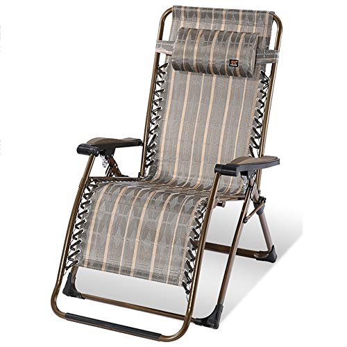 Chaises longues ZR- Balancelle, Bains de Soleil, Chaise de Pause Déjeuner Pliante, À La Maison Loin du Lit Sieste, Portable