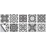 10 unidades de azulejos de mármol con diseño de flores peel Stick para el suelo de la pared, impermeable, para decoración de cocina, baño, decoración de suelo