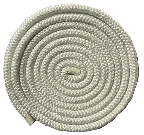 "Aboniris 5/16"" Wood Stove Door Gasket, 8mm Stove Rope, Round Fiberglass Rope Seal, White, Length 86'"