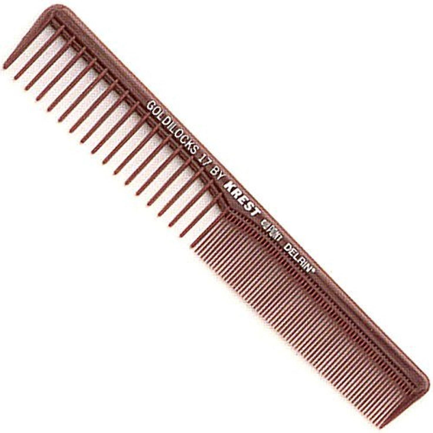 開梱陰気究極のKrest Combs Goldilocks Space Tooth Fine Tooth Styler Comb 7