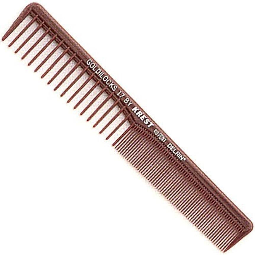 流星期待して幸福Krest Combs Goldilocks Space Tooth Fine Tooth Styler Comb 7
