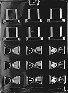 Bite Size Black Tie and Top Hat Chocolate Mold - D047