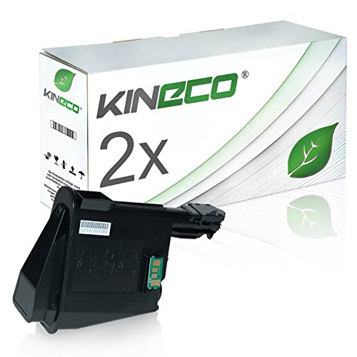 2 Toner kompatibel zu TK-1115 für Kyocera Ecosys FS-1041, FS-1220MFP, FS-1320MFP - 1T02M50NL0 - Schwarz je 1.600 Seiten