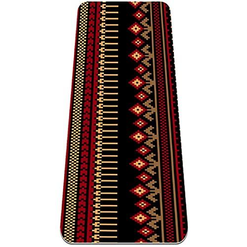 Esterilla de yoga, patrón étnico folk antideslizante para yoga, pilates y gimnasia