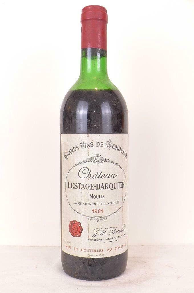 moulis château lestage-darquier (b1) rouge 1981 - bordeaux