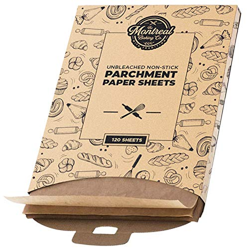 Pre-Cut 12x16 Inch Parchment Paper Sheets | 120 Pack - Unbleached and Non-Stick 100% Food Grade...