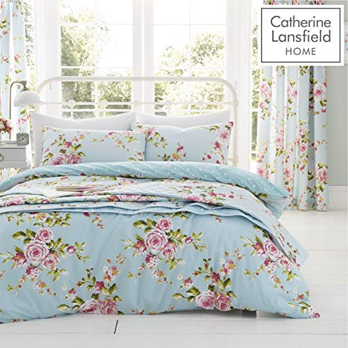 Catherine Lansfield Canterbury Bettwäsche-Set für Einzelbett, pflegeleicht, Mehrfarbig, Canterbury, Doppelbett