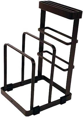 アンファンス Haganege 包丁&まな板スタンド ブラック W12.5×D14.5×H21.5㎝