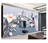 Fleurs Peacockhome Décoration Fond d'écran 3D Murale Hd Affichage Chambre Salon...