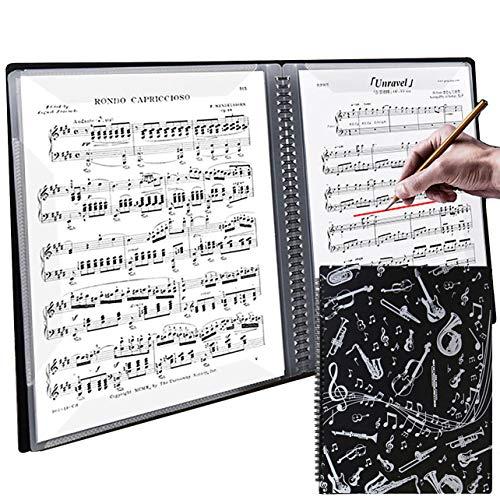 【ダサズニカケーる】(楽器のイラスト)楽譜を取り出さずに書き込み可能 リングファイル A4 音楽ファイル (コイルファイル(40ページ), 楽器のイラスト)