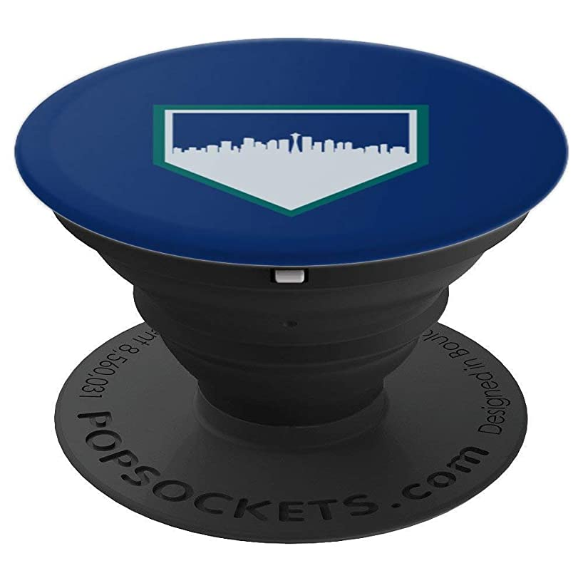Vintage Seattle Baseball SEA Home Skyline - PopSockets Grip and Stand for Phones and Tablets