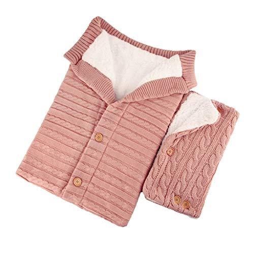 Sacco nanna per neonato, spesso, caldo, lavorato a maglia, sacco a pelo