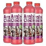 AmbiClean® Flüssig-Entkalker für Kaffeevollautomat, Kaffee-Maschine, Wasserkocher etc. | 100% Natürlicher Kalk-Reiniger - 4 x 750ml