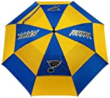 """Team Golf NHL St Louis Blues 62"""" Golf Umbrella with Protective Sheath, Double Canopy Wind Protection Design, Auto Open Button"""