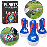 GIGGLE N GO Flarts Outdoor Games for Family - Yard Games and Fun Family Games for Kids and Adults.. Great Indoor Game. Our Lawn Games Version of Lawn Darts