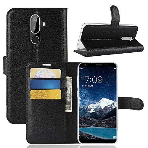 Custodia® Flip Brieftasche Hülle für Oukitel K5 (Schwarz)