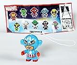 Kinder Überraschung, Capitán América con folleto (Marvel Twistheads, testware)...
