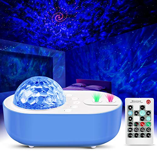 Star Projector Night Light Sky Galaxy Projector Ocean Wave Starry Night Light Projector with Bluetooth Music Speaker & Remote Control for Decor Bedroom, Home Theatre, Game Rooms, Kids